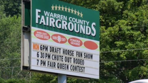 Warren County Fair Sign